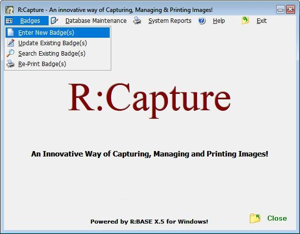 R:Capture - Product Screenshots
